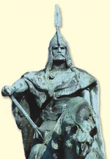 Statua di Attila che nelle sue terre è celebrato, da sempre, come un re e conquistatore valoroso. Una sorta di Napoleone Bonaparte.