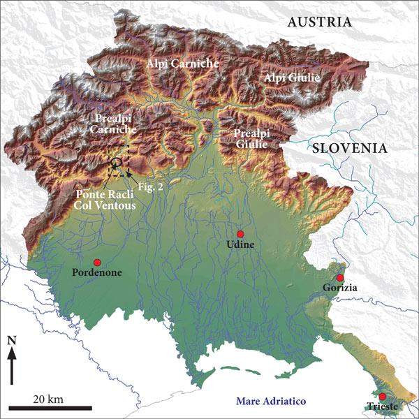Cartina 3d Alpi.Sedimentologia E Tettonica Della Successione Clastica Della Val Meduna Prealpi Carniche Pn